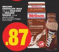 Neilson Chocolate Milk - 750 mL or Milk2go or Neilson Shakes - 310 mL