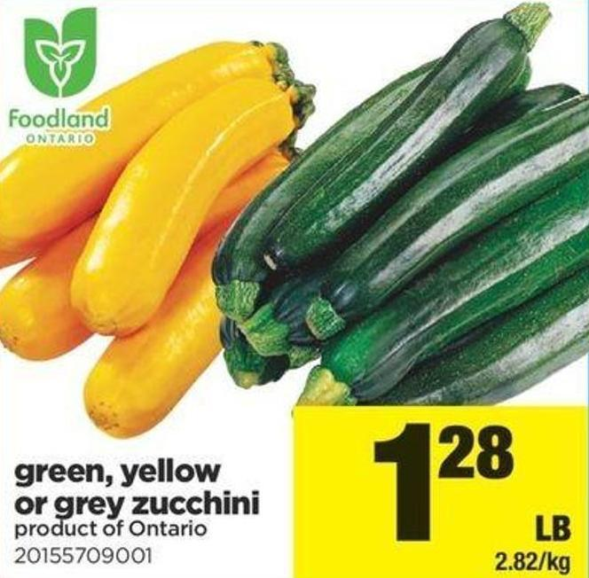 Green - Yellow Or Grey Zucchini
