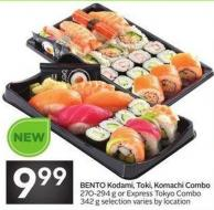 Bento Kodami - Toki - Komachi Combo 270-294 g or Express Tokyo Combo 342 g Selection Varies By Location