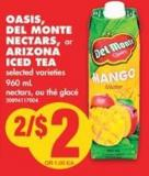 Oasis - Del Monte Nectars - or Arizona Iced Tea - 960 mL
