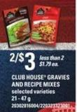 Club House Gravies And Recipe Mixes - 21 - 47 G