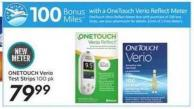 Onetouch Verio Test Strips - 100 Air Miles Bonus Miles