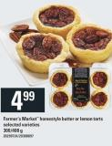 Farmer's Market Homestyle Butter Or Lemon Tarts - 300/400 g