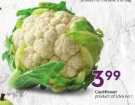 Cauliflower Product of USA No. 1