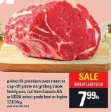 Prime Rib Premium Oven Roast Or Cap-off Prime Rib Grilling Steak