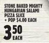 Stone Baked Mighty Hungarian Salami Pizza Slice