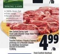 New Zealand Spring Lamb Fresh Lamb Shoulder Chops Value Pack