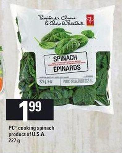 PC Cooking Spinach - 227 g