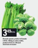 Brussels Sprouts - Product Of Canada 3.49 Lb Or Celery Stalks