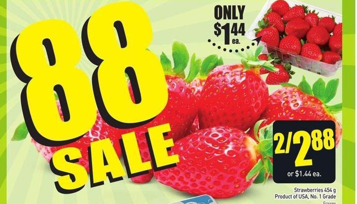Strawberries 454 g Product of USA - No.1 Grade