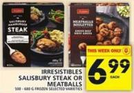 Irresistibles Salisbury Steak Or Meatballs