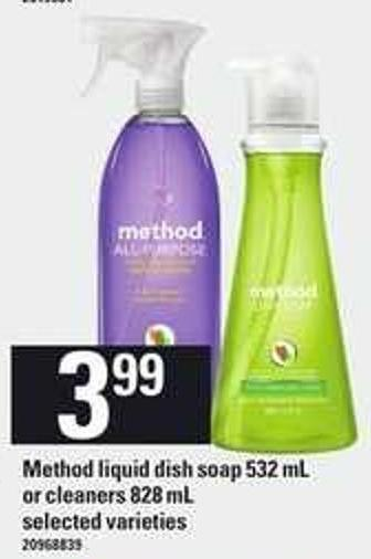 Method Liquid Dish Soap 532 Ml Or Cleaners - 828 Ml
