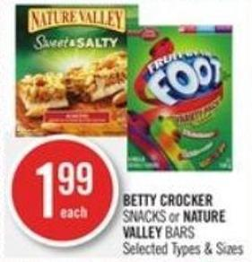 Betty Crocker  Snacks or Nature Valley Bars
