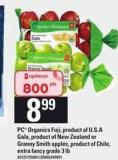 PC Organics Fuji - Product Of U.s.a Gala - Product Of New Zealand Or Granny Smith Apples - Extra Fancy Grade 3 Lb