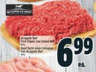 Qu'appelle Beef Fresh Organic Lean Ground Beef