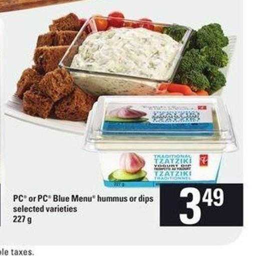 PC Or PC Blue Menu Hummus Or Dips - 227 g