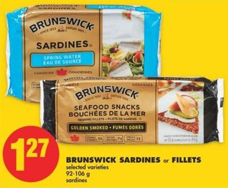Brunswick Sardines or Fillets - 92-106 g