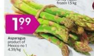 Asparagus Product of Mexico No 1 - 4.39/kg
