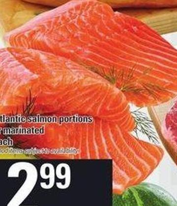 Fresh Atlantic Salmon Portions