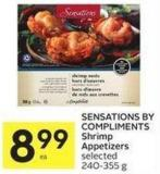Sensations By Compliments Shrimp Appetizers Selected 240-355 g