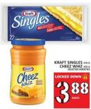Kraft Singles Or Cheez Whiz 410 g - 450 g