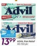 Advil Pain Relief 40-150 Pk- 10 Air Miles Bonus Miles