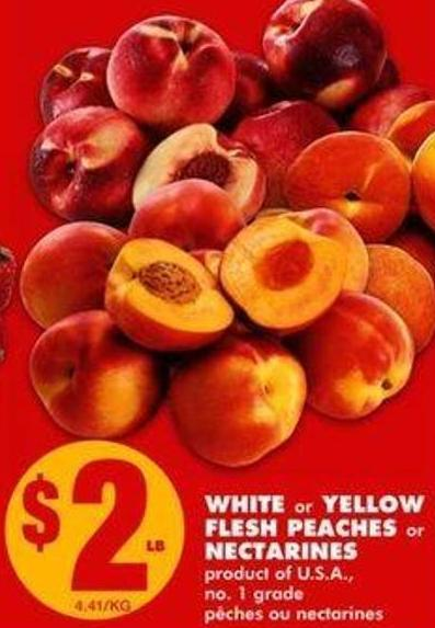 White Or Yellow Flesh Peaches Or Nectarines