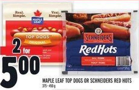 Maple Leaf Top Dogs Or Schneiders Red Hots