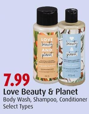 Love Beauty & Planet Body Wash - Shampoo - Conditioner