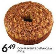 Compliments Coffee Cakes 850 g