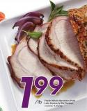 Fresh Whole Boneless Pork Loin Centre & Rib Portion