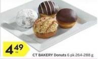 Ct Bakery Donuts 6 Pk 264-288 g