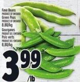 Fava Beans Product Of Ontario Green Peas Product Of Ontario