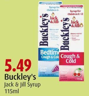 Buckley's Jack & Jill Syrup 115ml