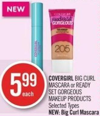 Covergirl Big Curl Mascara or Ready Set Gorgeous Makeup Products