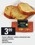 Farmer's Market Whole Or Sliced Loaf Cake - 390/420 g