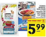 Purina Beneful Dog Food Or Friskies Or Cat Chow Cat Food