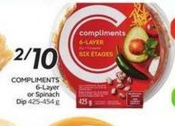 Compliments 6-layer or Spinach Dip 425-454 g