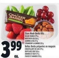 Store Made Bento Kits Deluxe Crunch 279 G Bento With Egg 263 G Almonds & Egg 271 G Strawberry & Almonds 253 G