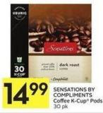 Sensations By Compliments Coffee K-cup Pods