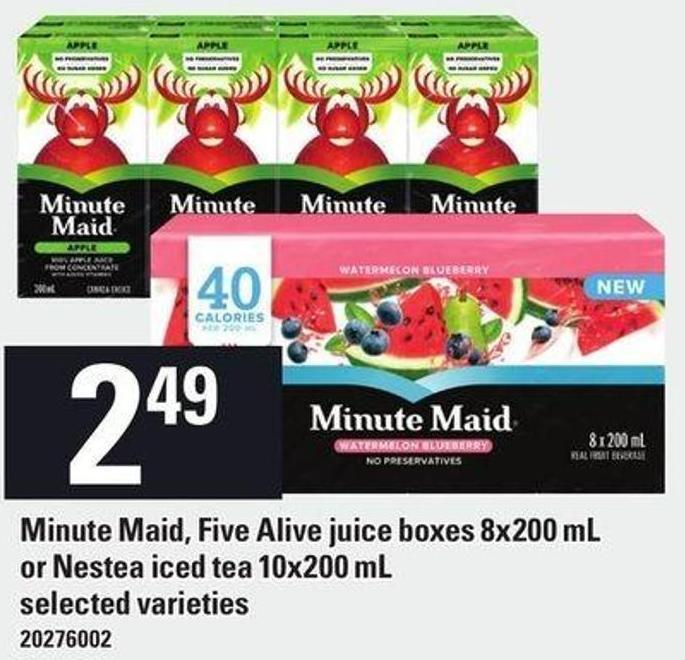 Minute Maid - Five Alive Juice Boxes 8x200 Ml Or Nestea Iced Tea 10x200 Ml