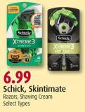 Schick - Skintimate Razors - Shaving Cream