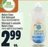 Nature Clean Dish Detergent 740 ml