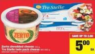 Zerto Shredded Cheese - 140 g Or Tre Stelle Twin Pack Cheese - 190-560 g
