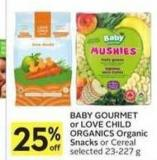 Baby Gourmet or Love Child Organics Organic Snacks