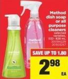 Method Dish Soap Or All Purpose Cleaners - 532- 828 mL