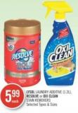 Lysol Laundry Additive (1.2l) - Resolve or Oxi Clean Stain Removers
