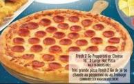 Fresh 2 Go Pepperoni or Cheese 16in X-large Hot Pizza