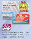 Option+ Cold & Flu Medication Select Types