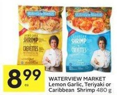 Waterview Market Lemon Garlic - Teriyaki or Caribbean Shrimp